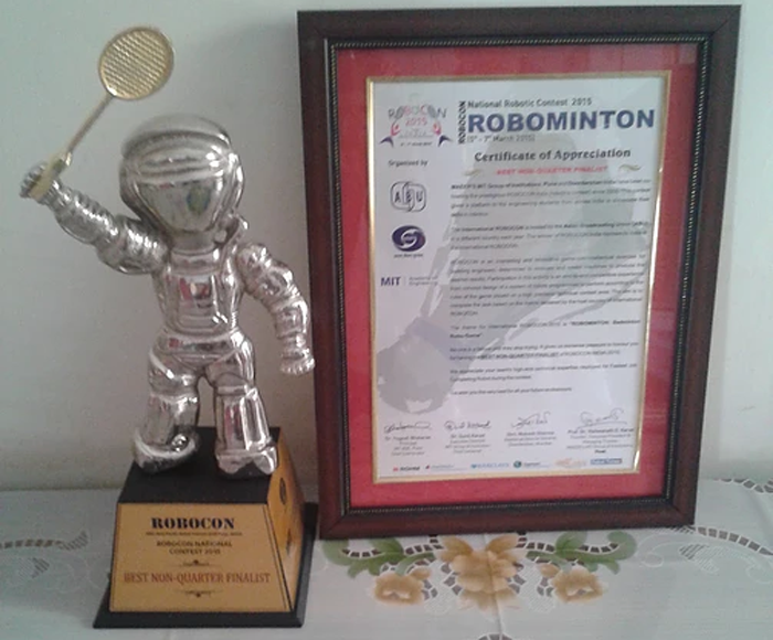 The awards from ROBOCON 2015